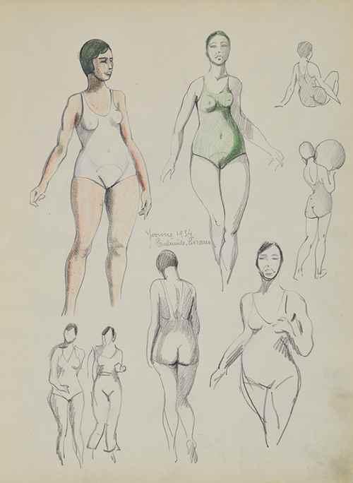 Etude d'Yvonne en 1934  - Paulémile Pissarro (1884 - 1972)