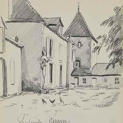 Les poules au village - Paulémile Pissarro (1884 - 1972)
