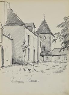 Paulémile Pissarro - Les poules au village