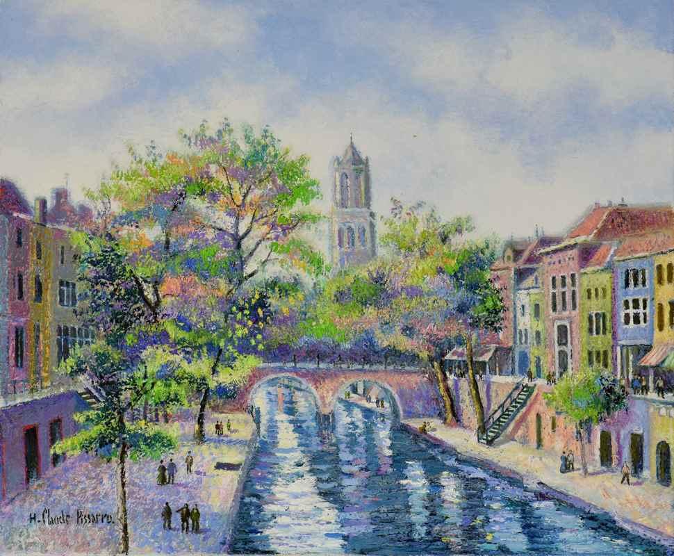 Bruges en Octobre - H. Claude Pissarro (b. 1935 - )