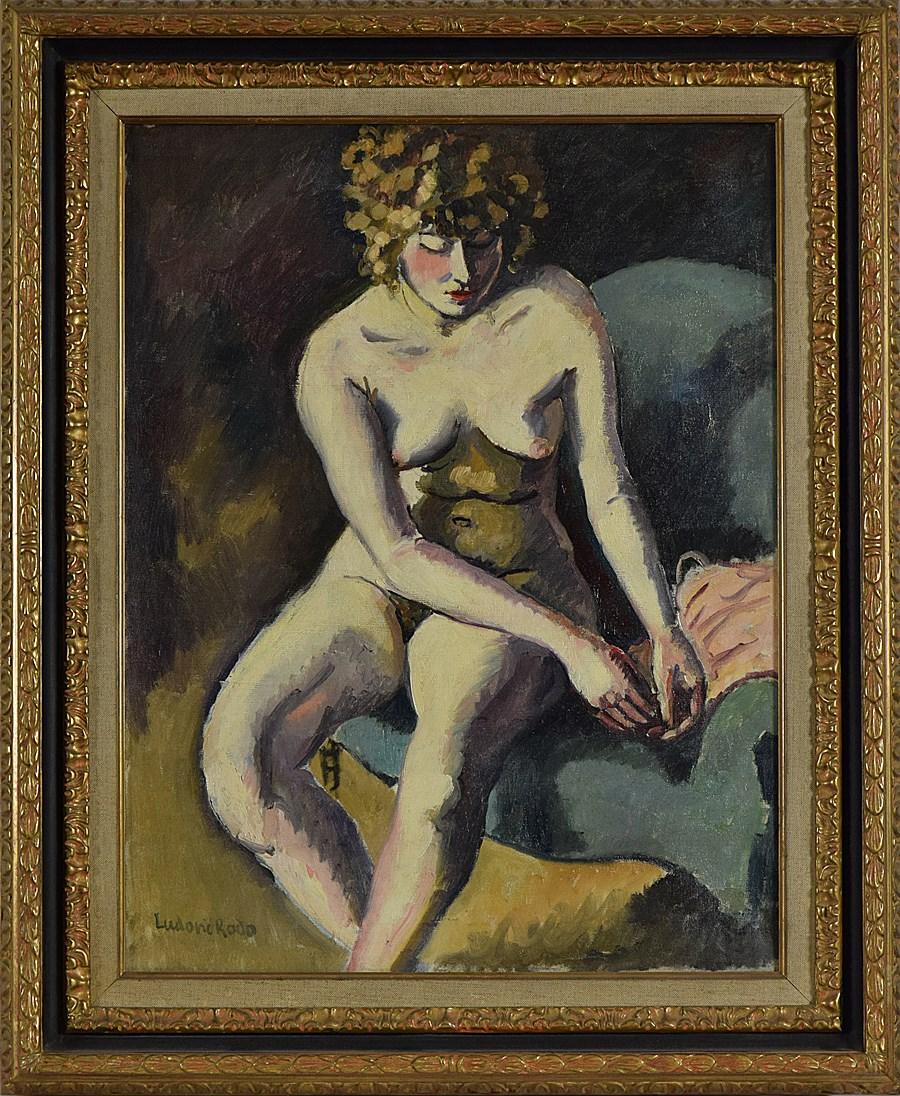 Jeune Fille aux Cheveux Bouclés - Ludovic-Rodo Pissarro (1878 - 1952)