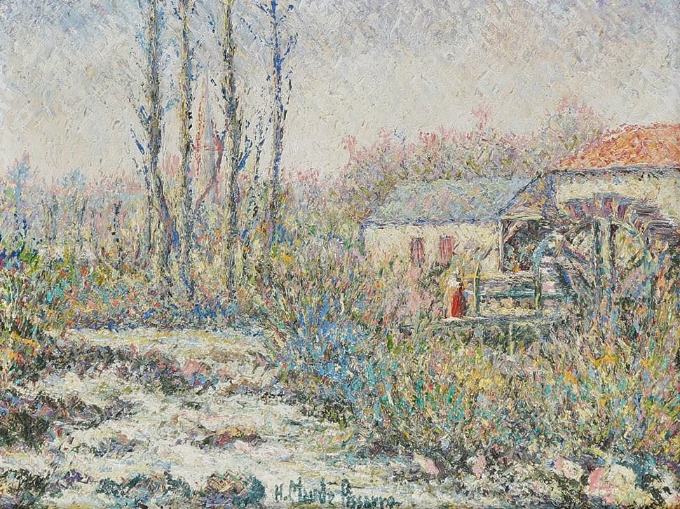 Le Moulin des Tourailles - H. Claude Pissarro (b. 1935 - )