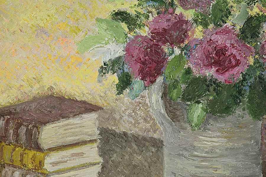 Le Bouquet de Toukie - Lélia Pissarro, Early Figurative (b. 1963 - )