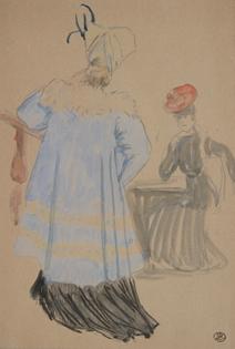 Ludovic-Rodo Pissarro - Les Deux Femmes Élégantes
