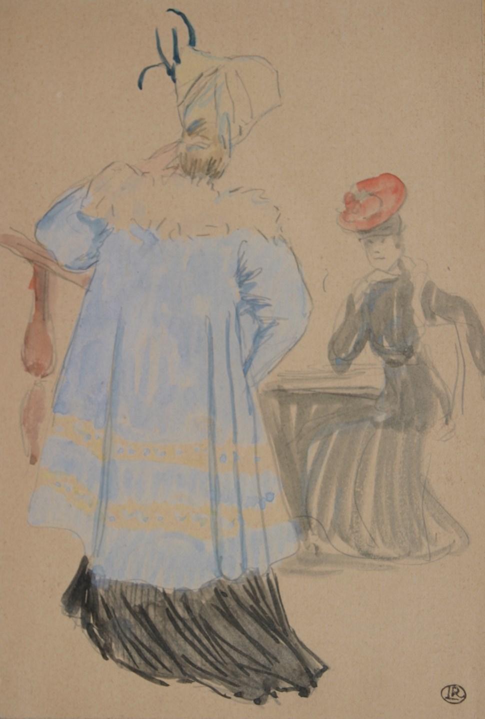 Les Deux Femmes Élégantes - Ludovic-Rodo Pissarro (1878 - 1952)