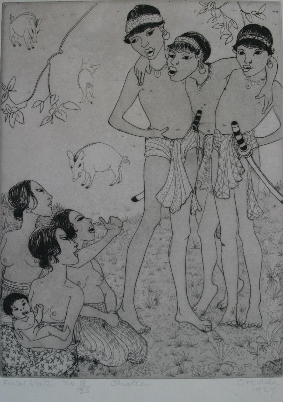 Chatter - Orovida Pissarro (1893 - 1968)
