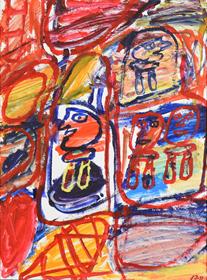 Jean  Dubuffet - Site Avec 4 Personnages