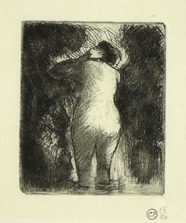 Camille Pissarro - Baigneuse Vue de Dos