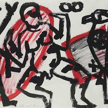 Adler und Tänzer 2 - A.R. Penck (1939 - 2017)