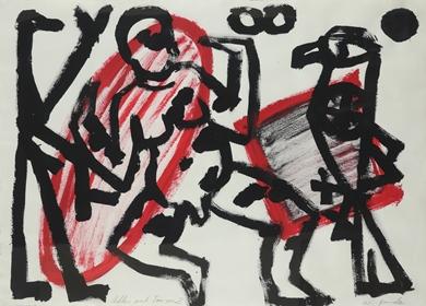 A.R. Penck - Adler und Tänzer 2