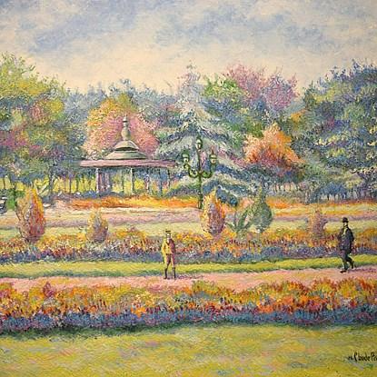 Belle saison au jardin Joudon - H. Claude Pissarro (b. 1935 - )