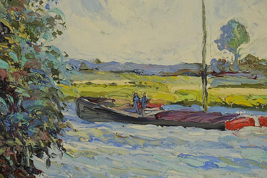 Paul et Kim au Bord de L'Orne - Corinne and Claude Pissarro