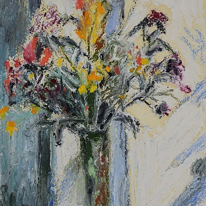 Fleurs - Hugues Pissarro dit Pomié (b. 1935 - )