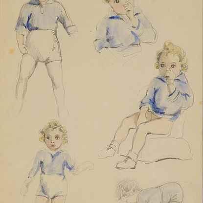 Études sur Titu - Paulémile Pissarro (1884 - 1972)