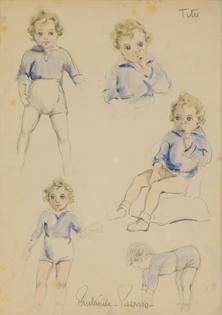 Paulémile Pissarro -  Études sur Titu