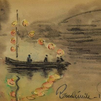 Bateau sur la Rivière - Paulémile Pissarro (1884 - 1972)