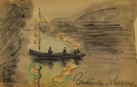 Paulémile Pissarro - Bateau sur la Rivière