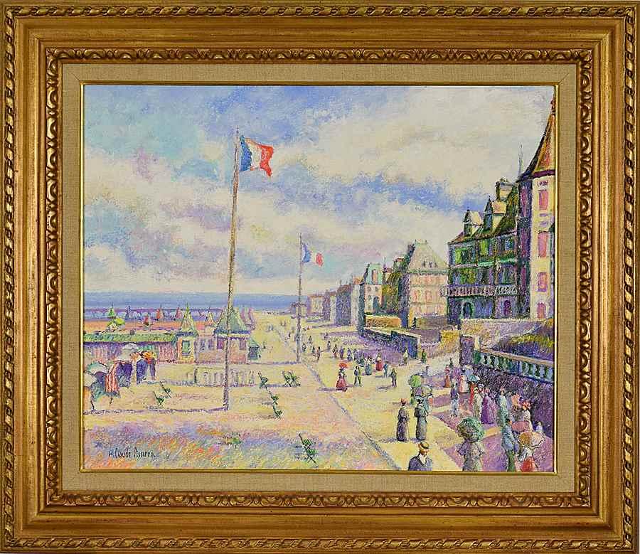 Les Promeneurs de la Plage (Trouville: les Planches) - H. Claude Pissarro (b. 1935)