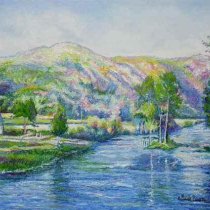 Le Pain de Sucre (Clécy-Normandie) - H. Claude Pissarro (b. 1935 - )
