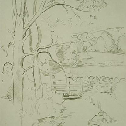 Landscape with Gate - Orovida Pissarro (1893 - 1968)