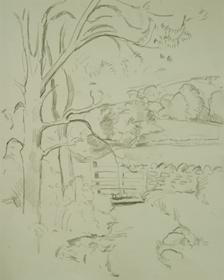 Orovida Pissarro - Landscape with Gate
