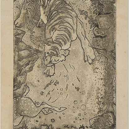 La Poursuite - Orovida Pissarro (1893 - 1968)