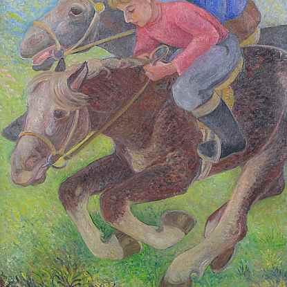 Exercising Ponies - Orovida Pissarro (1893 - 1968)