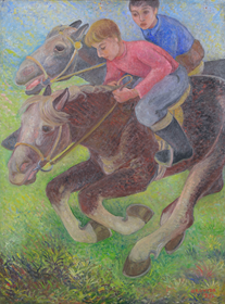 Orovida Pissarro - Exercising Ponies