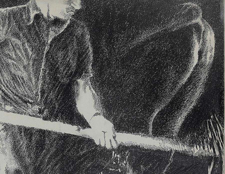 Farmhand in a Cowshed - Yvon Pissarro (b. 1937 - )