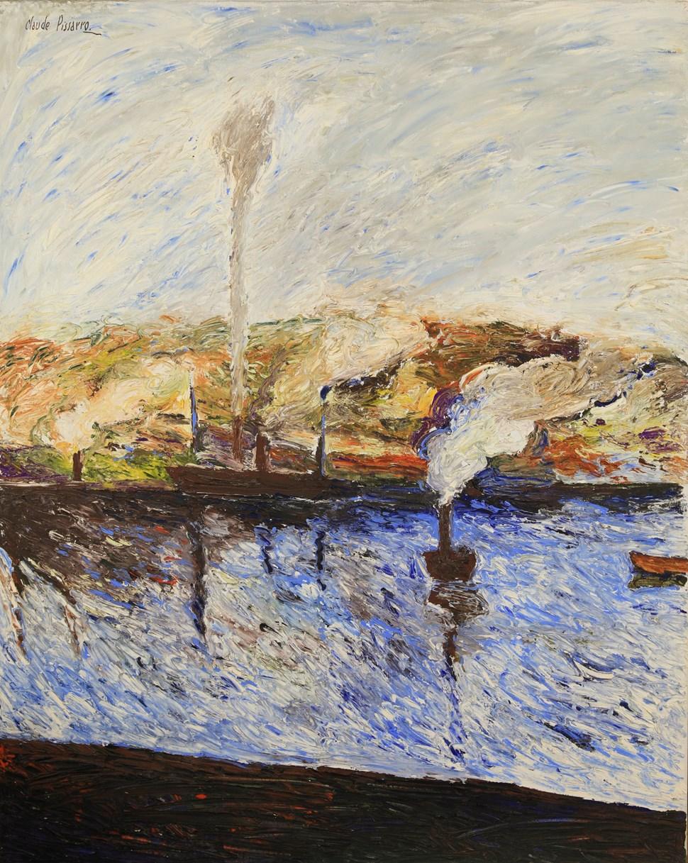 Camille - Port Fumant - Hugues  Pissarro dit Pomié (b. 1935 - )