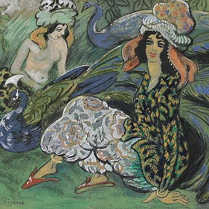 Femmes au Paon - Georges Manzana Pissarro (1871 - 1961)