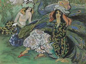 Georges Manzana Pissarro - Femmes au Paon