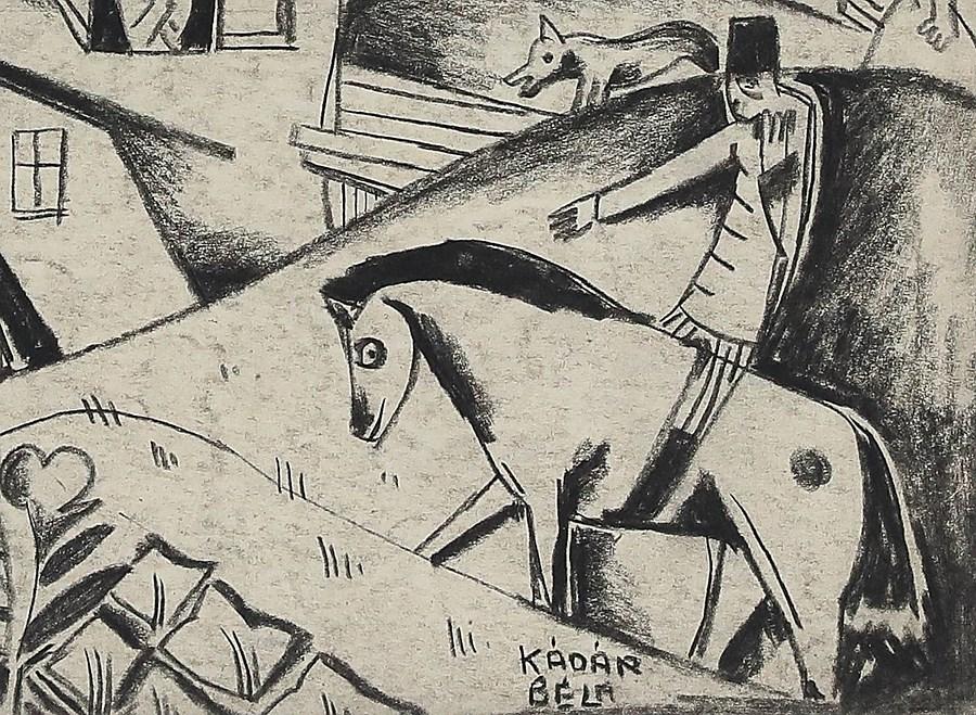 Village Scene - Béla Kádár (1877 - 1956)