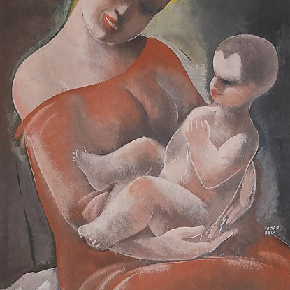 Mother and Child - Béla Kádár (1877 - 1956)