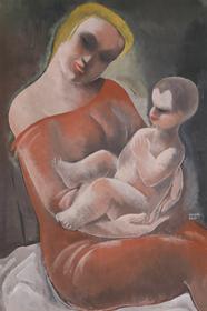 Béla Kádár - Mother and Child