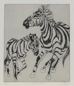 Orovida Pissarro - Zebra and Foal