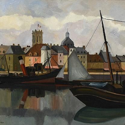 Le Port de Dieppe - Paulémile Pissarro (1884 - 1972)