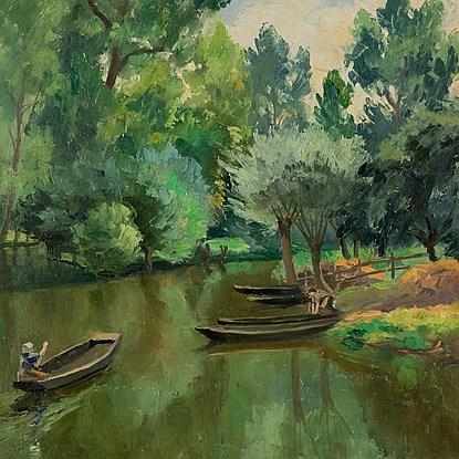 La Rivière Ombragée, La Garette - Paulémile Pissarro (1884 - 1972)