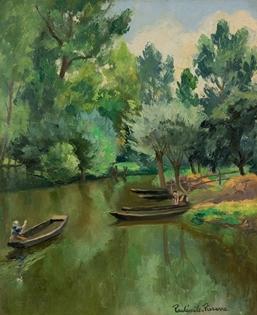 Paulémile Pissarro - La Rivière Ombragée, La Garette