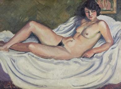Ludovic-Rodo Pissarro - La Brune au Tableau de Nu
