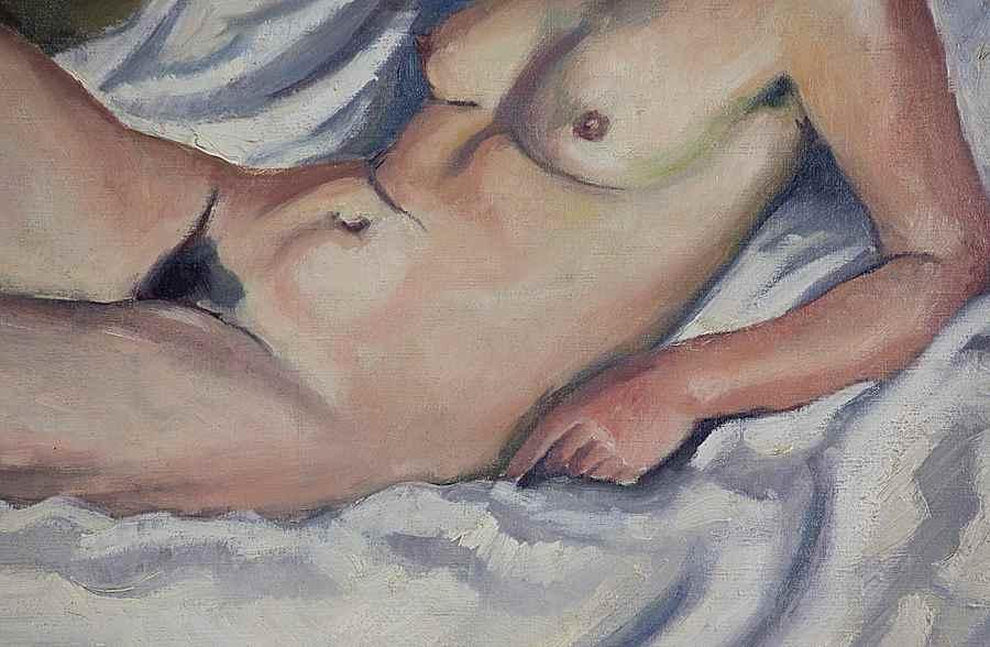 La Brune au Tableau de Nu - Ludovic-Rodo Pissarro (1878 - 1952)