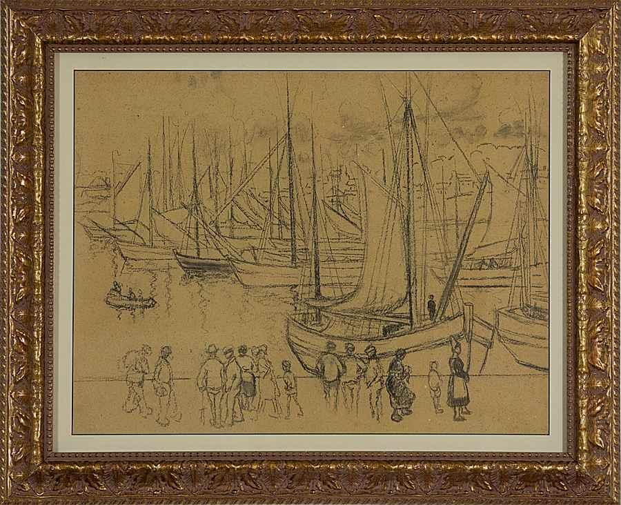 Port Scene in Brittany - Georges Manzana Pissarro (1871 - 1961)