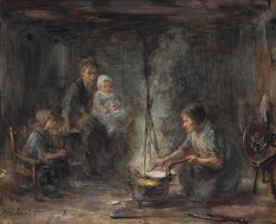 Jozef Israëls - Woman cooking