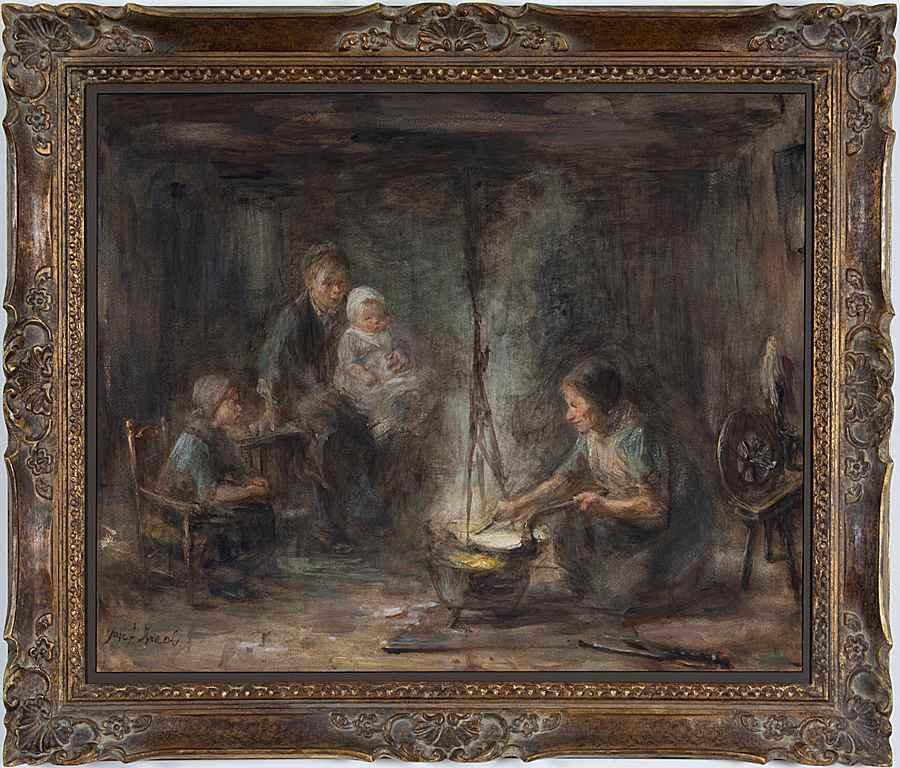 Woman cooking - Jozef Israëls (1824 - 1911)