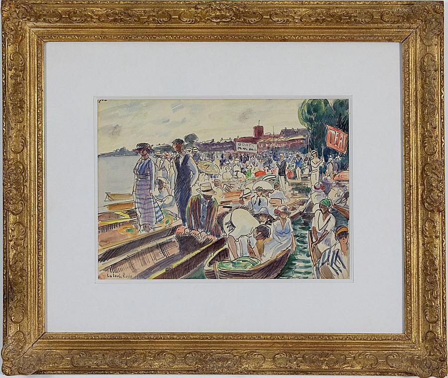 Henley Regatta on the Thames - Ludovic-Rodo Pissarro (1878 - 1952)
