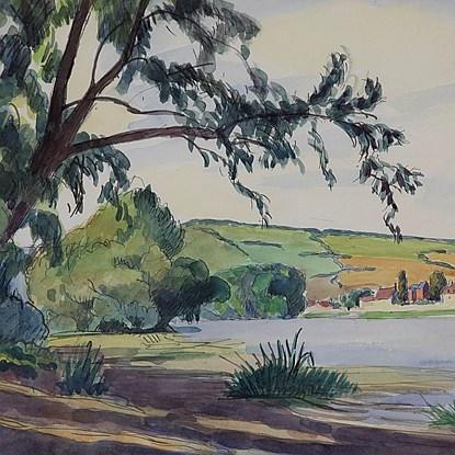 Paysage de Rivière - Ludovic-Rodo Pissarro (1878 - 1952)