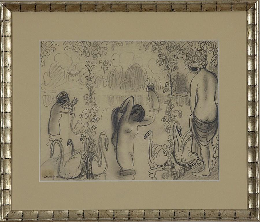 Bathers with Swans - Georges Manzana Pissarro (1871 - 1961)