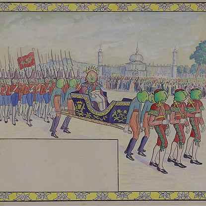 Le Défilé Royal (Illustration for Voyage au Pays des Pommes) - Lucien Pissarro (1863 - 1944)