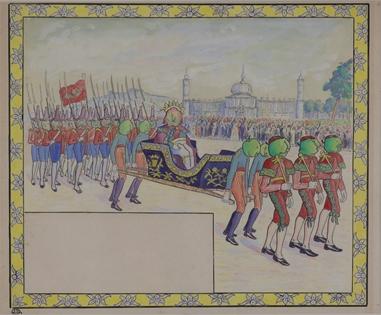 Lucien Pissarro - Le Défilé Royal (Illustration for Voyage au Pays des Pommes)