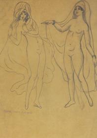 Georges Manzana Pissarro - Deux Nues Orientales